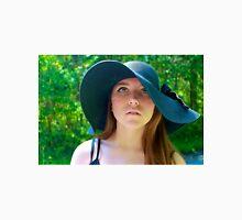 Girl with Floppy Hat Unisex T-Shirt