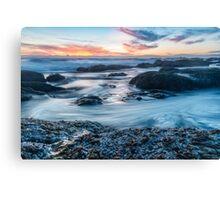 Rocky Ocean Sunset Canvas Print