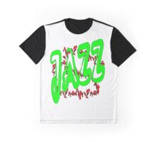 Jazz in Green Graphic T-Shirt