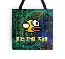 Hit The Pipe Flappy Bird Tote Bag