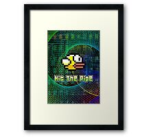 Hit The Pipe Flappy Bird Framed Print