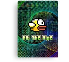 Hit The Pipe Flappy Bird Canvas Print
