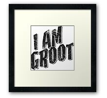 I am Groot Tee Framed Print