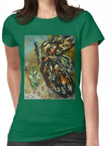 Milk Weed Womens Fitted T-Shirt