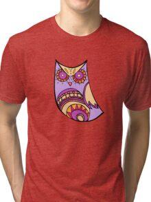 Deco Owl - grape juice Tri-blend T-Shirt