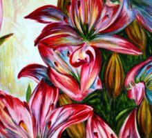 Red Lilies Fantasy Sticker