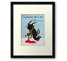 Lancelot du Lac - Robert Bresson film Framed Print
