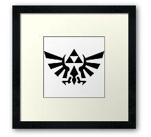 Triforce (Black Framed Print