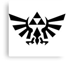 Triforce (Black Canvas Print