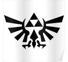 Triforce (Black Poster