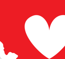Illinois is Where the Heart is (Red) Sticker