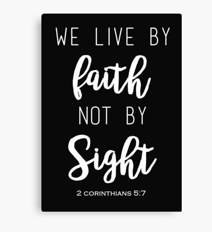 Faith Quote Canvas Print