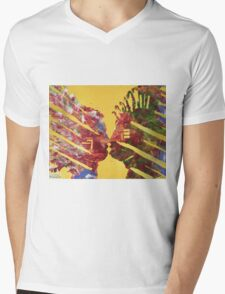 Native Kiss Mens V-Neck T-Shirt