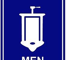 Men Restroom by nervenauf
