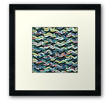 Party Waves ! Framed Print