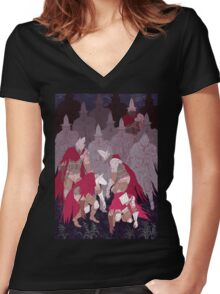 The Undead Legion  Women's Fitted V-Neck T-Shirt