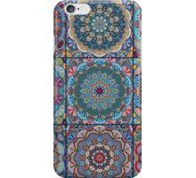 Dark Blue Square Tile Boho Pattern iPhone Case/Skin