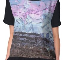 Blended Scape Chiffon Top