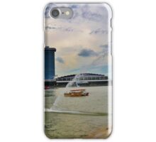 Marina Bay Sands Hotel and Merlion iPhone Case/Skin