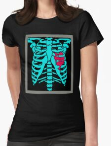 X-Ray Heart Womens Fitted T-Shirt