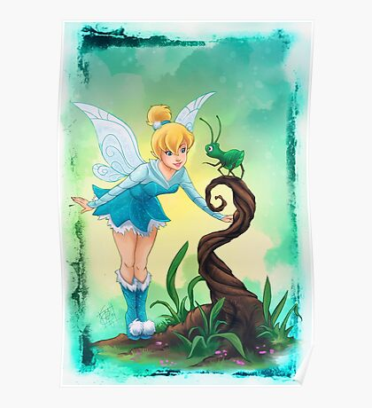 Tinkerbell Blue Fairy Poster