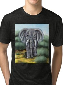 Elephant Digital Painting Tri-blend T-Shirt