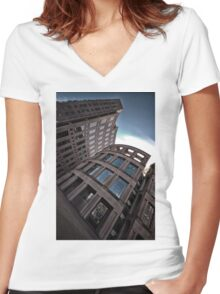 The Vancouver Public Library Perspective #2 Women's Fitted V-Neck T-Shirt
