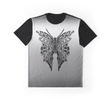 Delicate Metallic Abstract Monarch Butterfly  Graphic T-Shirt