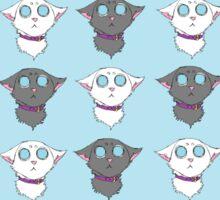 Checker Cats Sticker