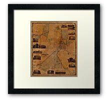 Map Of Worcester 1880 Framed Print