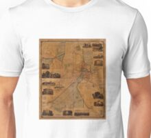 Map Of Worcester 1880 Unisex T-Shirt