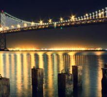 San Francisco Bay Bridge Illuminated Sticker