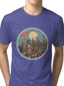 philadelphia panorama 3 Tri-blend T-Shirt