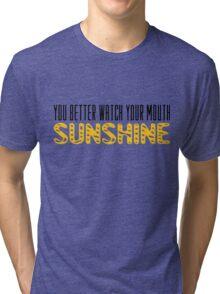The Walking Dead Quotes TV Series Sunshine Tri-blend T-Shirt