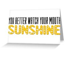 The Walking Dead Quotes TV Series Sunshine Greeting Card