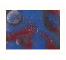 Ice and Fire Planets Art Print