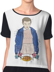 Stranger Things Eleven floral  Chiffon Top