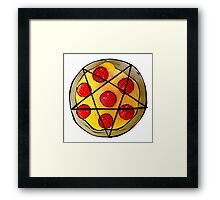 666-Pizza Framed Print