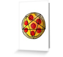 666-Pizza Greeting Card