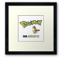Pidgeymon GO Away!! Framed Print