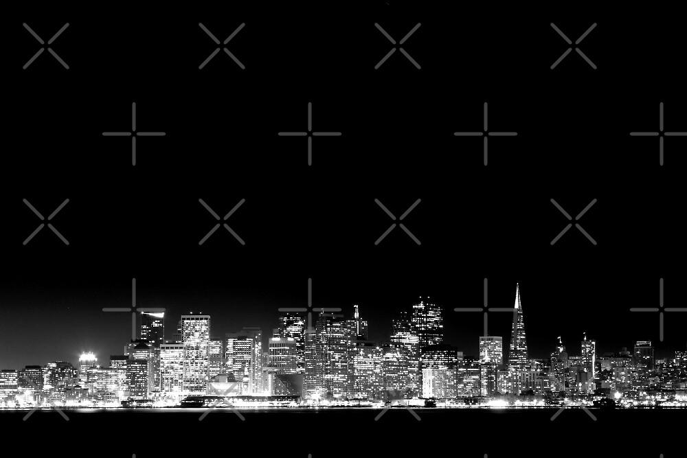 San Francisco Skyline Black & White by Jenn Ramirez