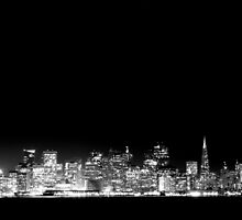 San Francisco Skyline Black & White by Jenn Ramirez