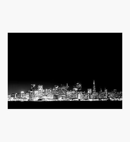 San Francisco Skyline Black & White Photographic Print