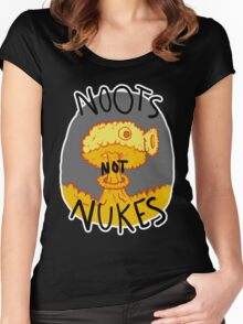 Noots Not Nukes Women's Fitted Scoop T-Shirt