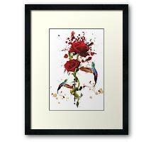 Lovely - Splatter Framed Print