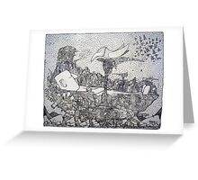 Space Pirate Ship - Sleeping Giant Greeting Card