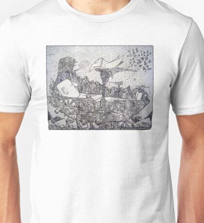 Space Pirate Ship - Sleeping Giant Unisex T-Shirt