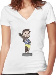 Vaultboy Wolfgang C**tsmasher Women's Fitted V-Neck T-Shirt