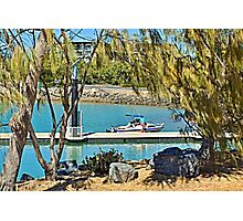 Rosslyn Bay boat ramp Wharf. Photographic Print