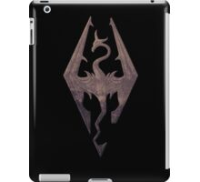 Skyrim logo red mountain background engraved iPad Case/Skin